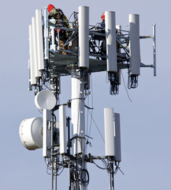 Typische Mobilfunkantenne