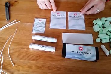 Der Inhalt des BioHome Installationspaketes mit der Größe XS von Swiss Harmony